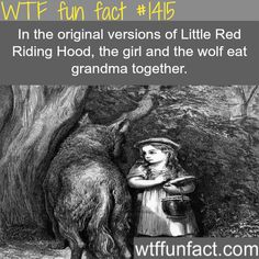 WTF Fun Fact# 1415 The original Red Riding Hood. Creepy much? Creepy Facts, Wtf Fun Facts, True Facts, Funny Facts, Random Facts, Strange Facts, Creepy Things, Childhood Ruined, Right In The Childhood