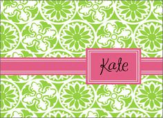 Green Winter Playground Foldover Note Cards