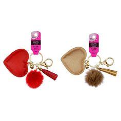 Assorted Heart & Pom Pom Keychain By Bead Landing