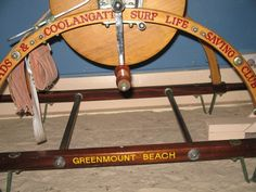 This portable surf lifesaving reel was owned by the Tweed Heads & Coolangatta Surf Life Saving Club and used for rescues on Greenmount beach and for competitions. It is a link to an earlier era of surf life saving on the beaches of the area. Queensland Australia, Sunshine State, Life Savers, Gold Coast, Brisbane, Tweed, Beaches, Surfing, Beautiful Places