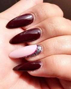 #Stiletto #Nails #Designs Maroon stiletto nails