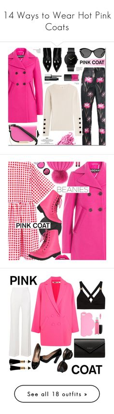 """""""14 Ways to Wear Hot Pink Coats"""" by polyvore-editorial ❤ liked on Polyvore featuring waystowear, hotpinkcoats, Rochas, Sigerson Morrison, Salvatore Ferragamo, Versace, South Lane, NARS Cosmetics, Bobbi Brown Cosmetics and See by Chloé"""