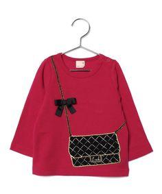 BAGデザイン長袖Tシャツ(Tシャツ/カットソー)|petit main(プティマイン)のファッション通販 - ZOZOTOWN
