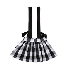 Department Name: BabyGender: Baby GirlsMaterial: CottonStyle: CasualPattern Type: PlaidDresses Length: Above Knee, MiniDecoration: SashesFabric Type: BroadclothSilhouette: A-LineFit: Fits true to size, take your normal size White Plaid, Black And White, Baby Girl Skirts, Overall Skirt, Skirts For Kids, Girl Sleeves, Suspender Skirt, Daddys Little, Girl Decor