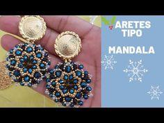 Mandala Earrings for this autumn winter 2019 2020 – The World Seed Bead Earrings, Beaded Earrings, Beaded Jewelry, Handmade Beads, Earrings Handmade, Handmade Jewelry, Jewelry Making Tutorials, Beading Tutorials, Earring Tutorial