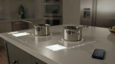 plan de travail design pour cuisine intéractive