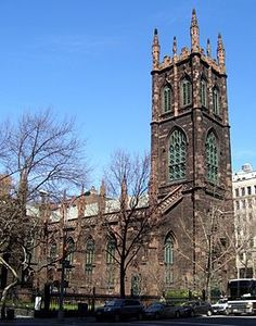 """The First Presbyterian Church, known as """"Old First"""",[1] located at 48 Fifth Avenue between West 11th and 12th Streets in the Greenwich Village neighborhood of Manhattan, New York City was built in 1844-6"""