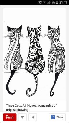 One of these cats for me, one of these for my girlie. Mother - Daughter Tattoo! Love it!