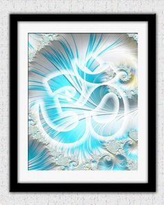 Om symbol print soft colors pastels Buddhist by theartofthematrix