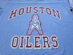 Vintage HOUSTON OILERS 1980s JERSEY T shirt  80s by sweetVTGtshirt 40dfc6d5b