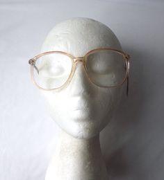 vintage 1980's eyeglasses oversized round by RecycleBuyVintage