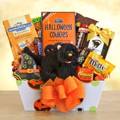 Scaredy Cat Treats For Halloween Gift Basket Delay Gifts