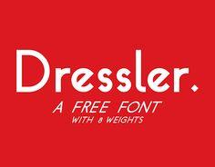 Dressler free typeface by Sigi Baumhauer #free #sans #font