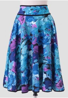 Calm Waters Printed Midi Skirt | Modern Vintage Clothing | Ruche