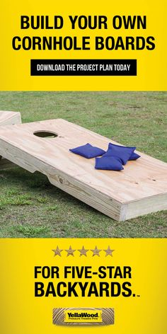 3 Fun And Easy DIY Woodworking Projects That You Can Complete This Weekend Backyard Games, Backyard Projects, Outdoor Projects, Home Projects, Backyard Farming, Backyard Ideas, Craft Projects, Wooden Projects, Woodworking Projects Diy