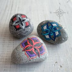 Travel Stone // gift for travelers // travel along & stay connected // purple, red, black, white, silver