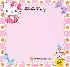 Keith Haring Art, Hello Kitty Backgrounds, Pochacco, Cute Stationary, Floral Banners, Journal Aesthetic, Letter Set, Sanrio Hello Kitty, Writing Paper