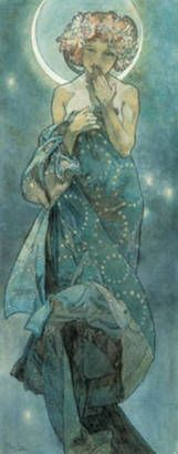 Study For The Moon' by Alphonse Mucha | Fine Art Prints | GalleryDirect
