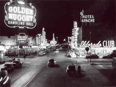 Fremont Street, Las Vegas. 1940s