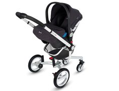 Silver Cross Simplicity infant car seat on Surf chassis