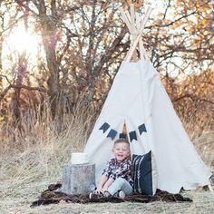 Boy birthday photography, birthday pictures, birthday photos, outdoors, mountains, teepee, happy birthday, Krystal Lou Photography.
