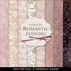 New Freebies Kit - Romantic Evening