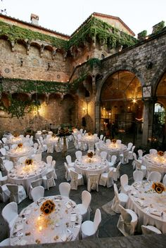 maybe we could even do the reception in the courtyard??