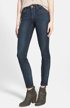 Free shipping and returns on Jolt Skinny Jeans at Nordstrom.com. Stretchy jeans in a dark wash are cut with a comfortable mid rise and a lean, snug fit through the leg.
