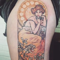 alphonse mucha tattoo forearm - Google Search