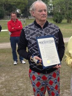 that time bill murray golfed in PBR pants