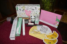 I have wanted to try Korean cosmetics for a while now, and so I was on the Birchbox site and found this treasure.  The packaging is beyond cute.  Enlarge this picture to see the packaging for the mascara!  The little panda contains an eye brightening base.  My daughter, Amanda, is in love with it.  Too Cool for School egg cream mask and black mascara.  Can't wait to try these goodies.