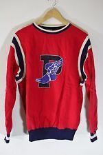 Rare Mint Vintage Ralph Lauren Polo 1992 Stadium P Wing Sweater Red Snow Beach