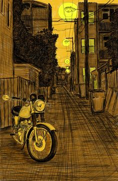 """Alley Study 33 with Norton 