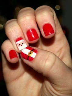 Santa Claus Nail Art, Enjoy in my presentation of Santa Claus Nail Art Designs and choose your next nails art designs for Christmas nails art designs ...  #ChristmasNailsArt #SantaClausNail #NailArtDesigns
