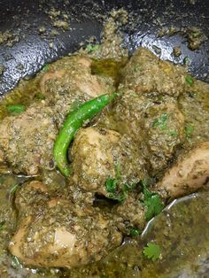 My Passion For Cooking: Green Chicken Karahi Fried Fish Recipes, Veg Recipes, Curry Recipes, Cooking Recipes, Recipies, Salad Recipes, Green Chicken Recipe, Indian Chicken Recipes, Indian Food Recipes