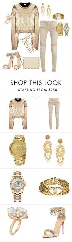 """Beauty"" by svetlozeme ❤ liked on Polyvore featuring Yves Saint Laurent, Balmain, Michael Kors, Dolce&Gabbana, Rolex, Chanel, Ross-Simons, Christian Louboutin, Valentino and Disney"