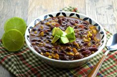 Sweet and Spicy Vegetarian Chili...try this with venison