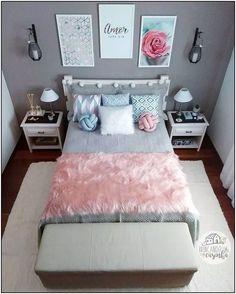 157 cozy teen girl bedroom design trends for 2019 58 Teen Bedroom Designs, Cute Bedroom Ideas, Cute Room Decor, Teen Room Decor, Small Room Bedroom, Room Decor Bedroom, Girls Bedroom, Modern Bedroom, Unique Teen Bedrooms