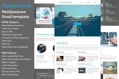 Responsive E-newsletter template by QuickArtisan on Creative Market