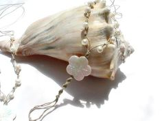 White Pearl Barefoot Sandals Beaded Hemp Fresh by MoJosFreeSpirit, $30.00