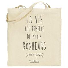 8407f22c28 Tote bag Marcel & Lily en coton biologique