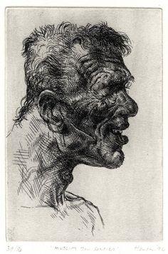1994 Bosnia - Muslim, soldier Etching x Peter Howson, James Nachtwey, Neo Expressionism, Glasgow School Of Art, Collagraph, A Level Art, Mark Making, Artist At Work, Light In The Dark