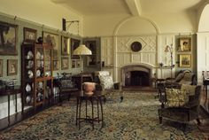 The Drawing Room with William Morris carpet (hand knotted) at Standen, East Grinstead, West Sussex