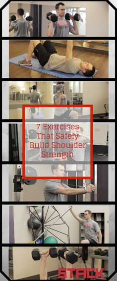 7 Exercises That Safely Build Shoulder Strength #shoulders #strength #workout #fitness