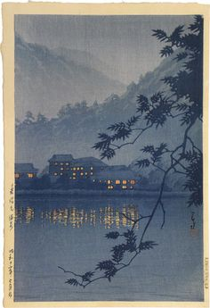 Kawase Hasui, 1883-1957  Yumoto Spa, Nikko