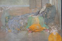 What a lovely idea... 'Langour', Ernest ROSEN (1877-1926). Relax and enjoy this painting offered by John Robertson Fine Paintings at The Edenbridge Galleries, Kent. www.edenbridgegalleries.com