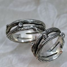 BRANCH WEDDING BAND - a Natural Wedding Ring in Sterling Silver. $145.00, via Etsy.