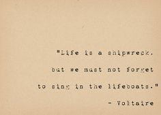 Voltaire Quote Inspirational Quote Art Life Is a by foxedprints