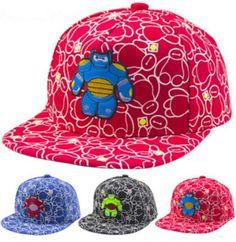 bd88142542b 2019 Adjustable Kid Baseball Cap Unisex Snapback Hip Hop Hat Big HERO 6  Baymix Robot Embroidery Children S Ball Caps From Jessiebee