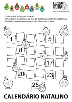 Quantos dias faltam para o Natal?! Christmas Tree Poster, Puzzle, Words, Professor, Kids Learning Activities, Literacy Activities, Hobbies, Colouring In, Classroom
